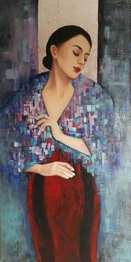 Obraz do salonu artysty Patrycja Kruszynska-Mikulska pod tytułem Female II