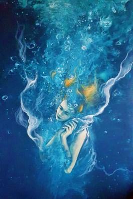 Obraz do salonu artysty Patrycja Kruszynska-Mikulska pod tytułem Melancholia