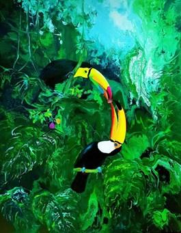 Obraz do salonu artysty Patrycja Kruszynska-Mikulska pod tytułem Green Paradise II