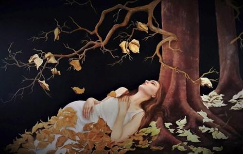 Obraz do salonu artysty Patrycja Kruszyńska-Mikulska pod tytułem Czułe szepty