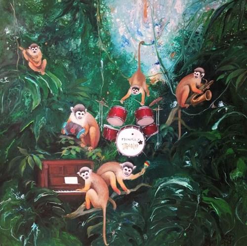 Obraz do salonu artysty Patrycja Kruszyńska-Mikulska pod tytułem Monkey Band
