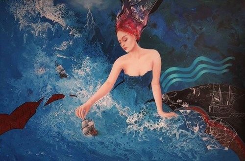 Obraz do salonu artysty Patrycja Kruszyńska-Mikulska pod tytułem Ocean Sounds