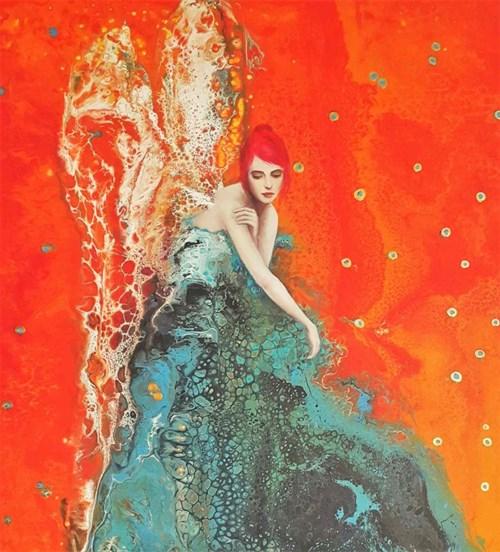 Obraz do salonu artysty Patrycja Kruszyńska-Mikulska pod tytułem Marzycielka