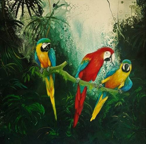 Obraz do salonu artysty Patrycja Kruszyńska-Mikulska pod tytułem Green Paradise IV