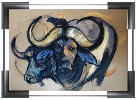 Obraz do salonu artysty Aleksandra Wiszniewska pod tytułem African Buffalo