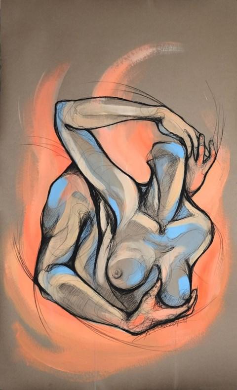 Obraz do salonu artysty Aleksandra Wiszniewska pod tytułem Aż spłoniemy