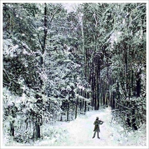 Obraz do salonu artysty Stanisław Tomalak pod tytułem Fragment 691 z cyklu Pory roku, etiuda zimowa