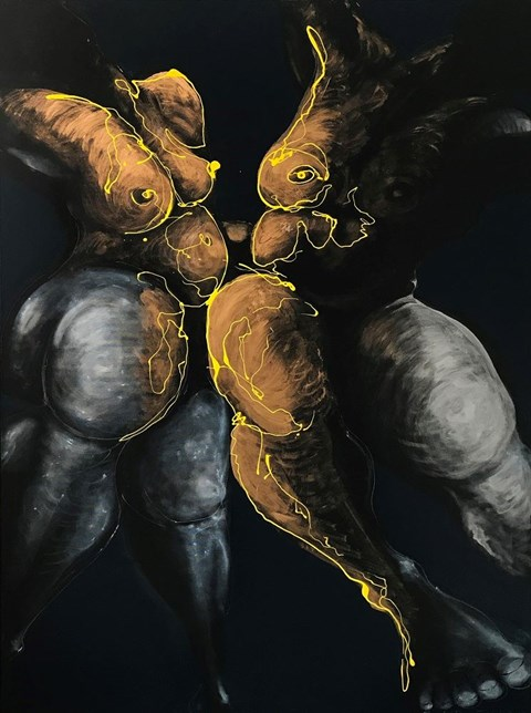 Obraz do salonu artysty Andrzej Domżalski pod tytułem Coś między nami zaiskrzyło