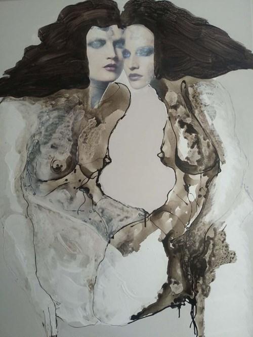 Obraz do salonu artysty Andrzej Domżalski pod tytułem Siostry