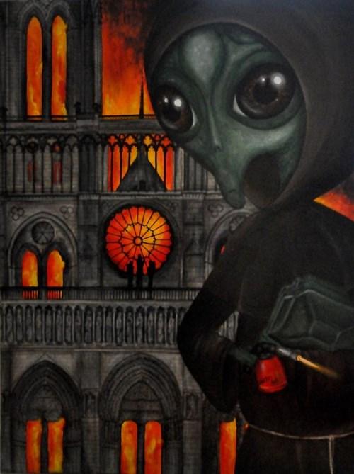Obraz do salonu artysty Estera Parysz-Mroczkowska pod tytułem Luciferum
