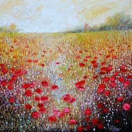Obraz do salonu artysty Alicja Kappa pod tytułem Przez łąkę