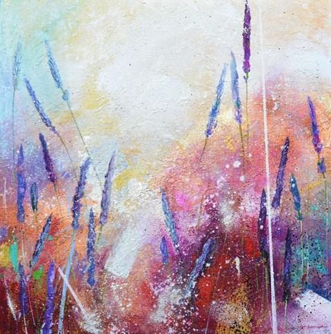 Obraz do salonu artysty Alicja Kappa pod tytułem Odcienie lawendy
