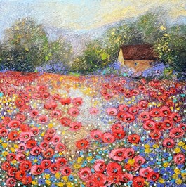 Living room painting by Alicja Kappa titled The Memory of a Summer