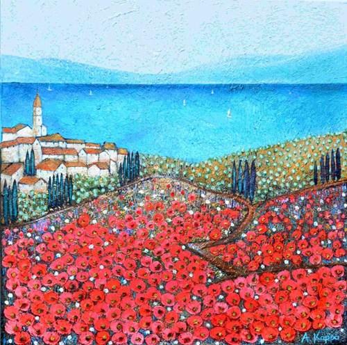 Obraz do salonu artysty Alicja Kappa pod tytułem Sanktuarium kolorów