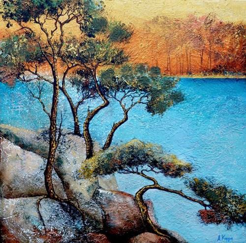 Obraz do salonu artysty Alicja Kappa pod tytułem Sacrum słońca