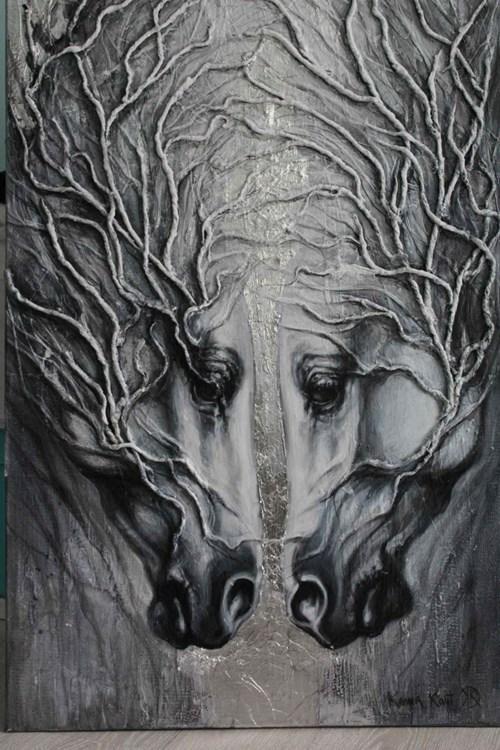 Obraz do salonu artysty Kamila Karst pod tytułem Biały Las