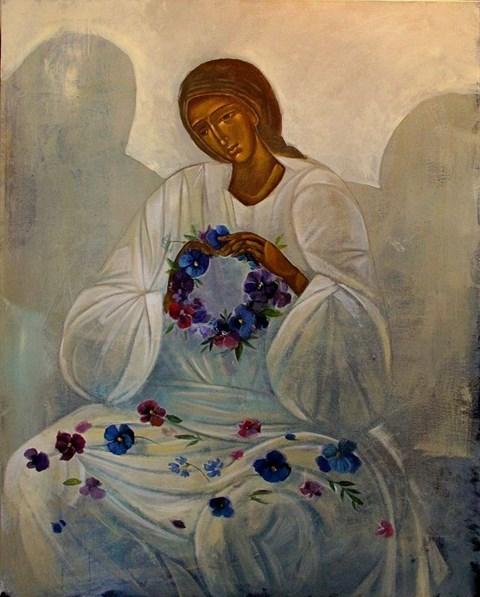 Obraz do salonu artysty Sylwia Perczak pod tytułem Wianki