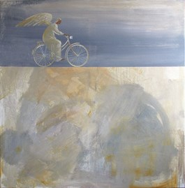 Living room painting by Sylwia Perczak titled I'm on My Way