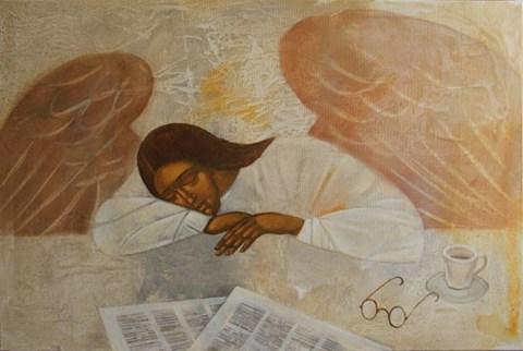 Obraz do salonu artysty Sylwia Perczak pod tytułem Prezegląd prasy