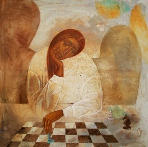 Obraz do salonu artysty Sylwia Perczak pod tytułem Niebieski