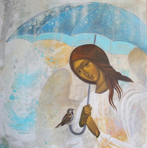 Obraz do salonu artysty Sylwia Perczak pod tytułem Pod parasolem