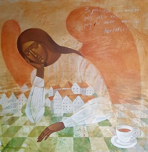 Obraz do salonu artysty Sylwia Perczak pod tytułem Tea time
