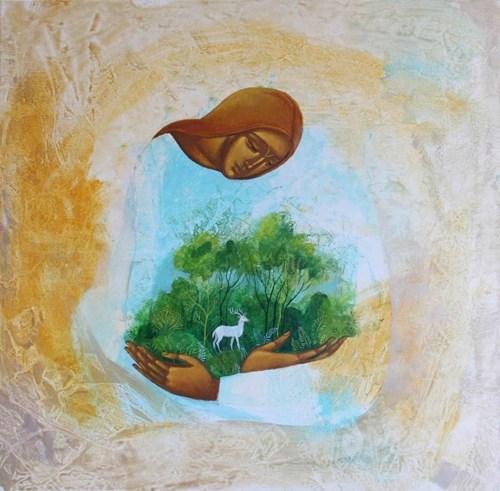 Obraz do salonu artysty Sylwia Perczak pod tytułem Oaza