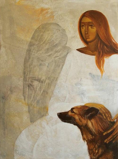 Obraz do salonu artysty Sylwia Perczak pod tytułem Najlepszy przyjaciel