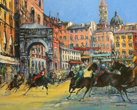 Obraz do salonu artysty Piotr Rembieliński pod tytułem Palio di Siena