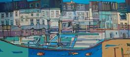 Obraz do salonu artysty Piotr Rembieliński pod tytułem A rzeka płynie (tryptyk)