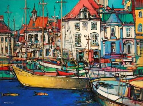 Obraz do salonu artysty Piotr Rembieliński pod tytułem Port to jest poezja