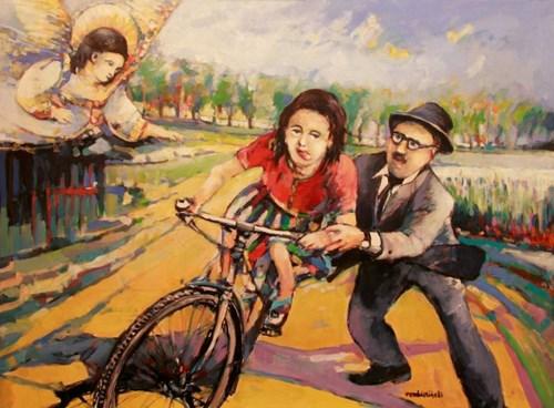 Obraz do salonu artysty Piotr Rembieliński pod tytułem Nauka jazdy