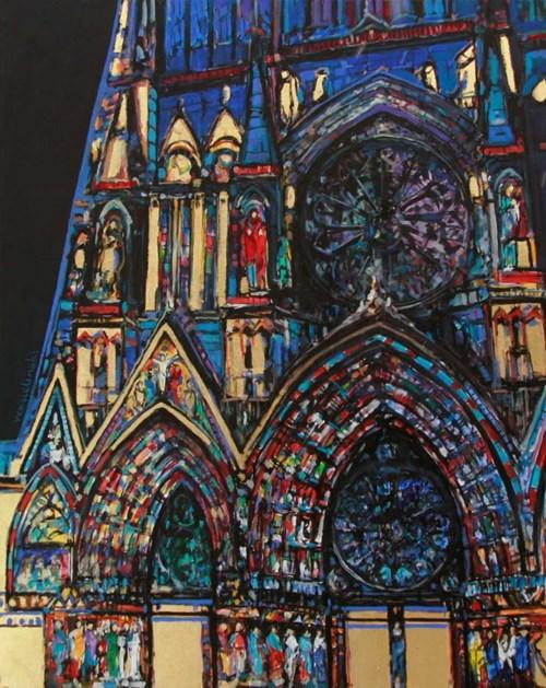 Obraz do salonu artysty Piotr Rembieliński pod tytułem Katedra XIII