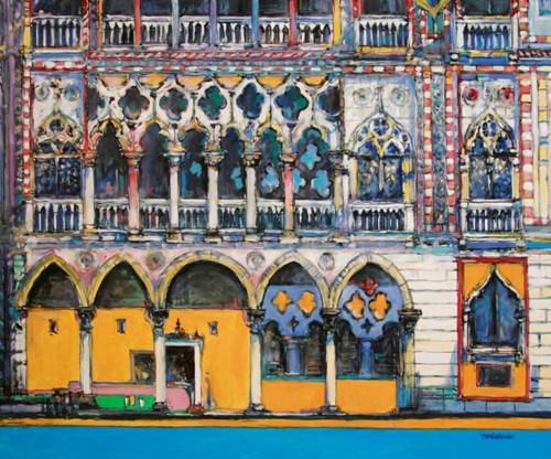 Obraz do salonu artysty Piotr Rembieliński pod tytułem Colori di Venezia, Palazzo d'Oro