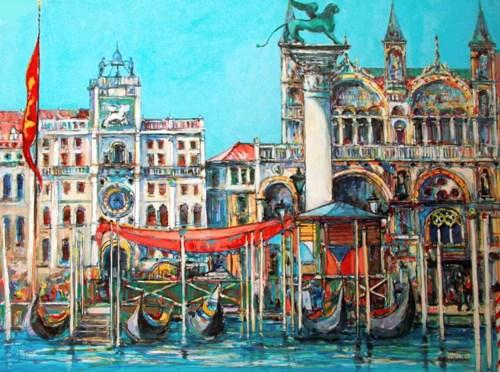 Obraz do salonu artysty Piotr Rembieliński pod tytułem Piazza San Marco