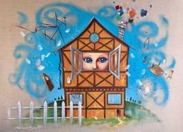 Obraz do salonu artysty Dariusz Ślusarski pod tytułem Oczy tej małej