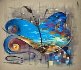 Obraz do salonu artysty Dariusz Ślusarski pod tytułem Efekt motyla