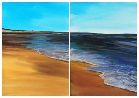 Obraz do salonu artysty Joanna Sadecka pod tytułem Plaża w Biscarosse (dyptyk)