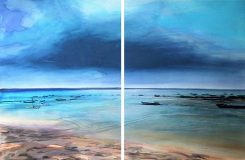Obraz do salonu artysty Joanna Sadecka pod tytułem Sjesta na Cap Ferret (dyptyk)