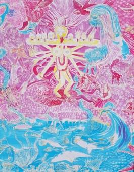 Obraz do salonu artysty Alicja Łukasiak pod tytułem Bez tytułu