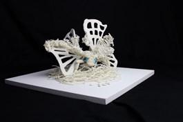 Obraz do salonu artysty Alicja Łukasiak pod tytułem 6000 jedwabników