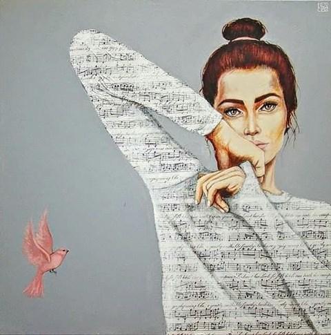 Obraz do salonu artysty Renata Magda pod tytułem Zaklęta w dźwiękach X