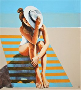 Living room painting by Renata Magda titled In the Sunlight