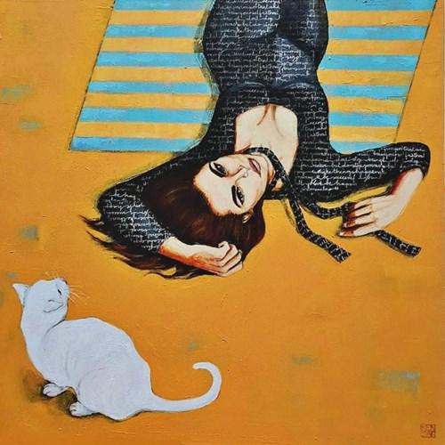 Obraz do salonu artysty Renata Magda pod tytułem Spotkanie na trawie