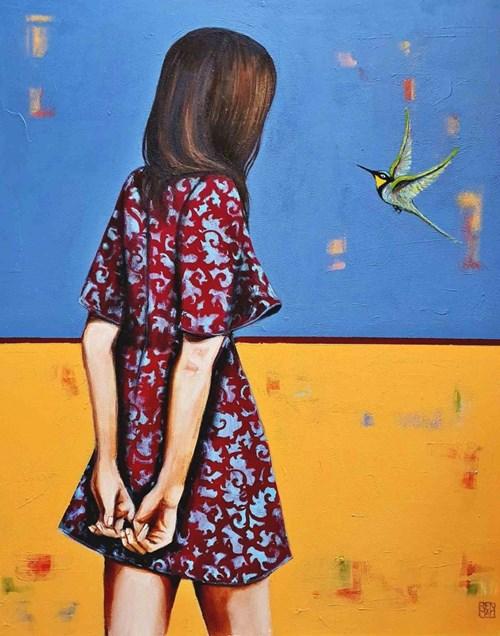 Obraz do salonu artysty Renata Magda pod tytułem Hummingbird i Ona
