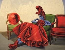 Obraz do salonu artysty Mariusz Zdybał pod tytułem Mars i Venus I