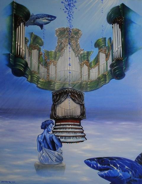 Obraz do salonu artysty Mariusz Zdybał pod tytułem Toccata