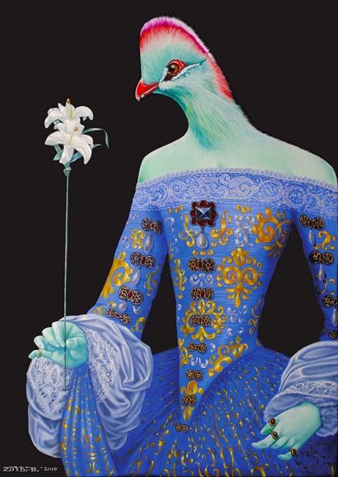 Obraz do salonu artysty Mariusz Zdybał pod tytułem Madonna Lili