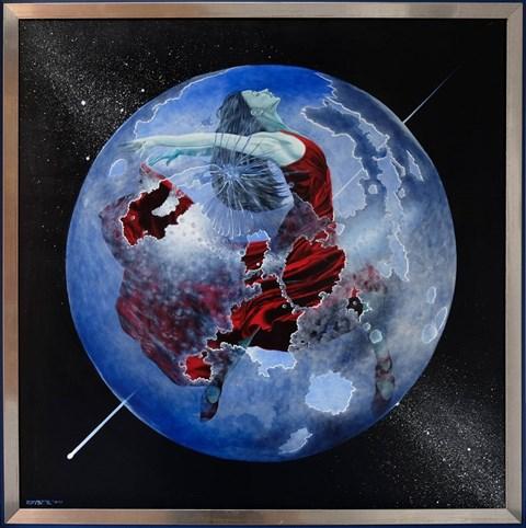 Obraz do salonu artysty Mariusz Zdybał pod tytułem Moonlight