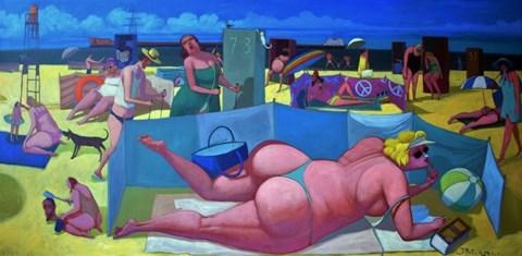 Obraz do salonu artysty Jacek Pałucha pod tytułem Plaża nas Bałtykiem